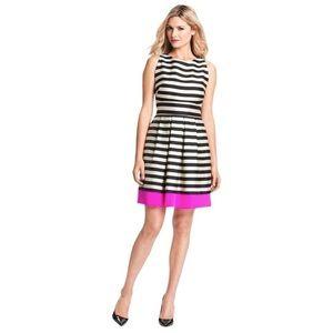 Eliza J stripe fit and flare cocktail dress pocket